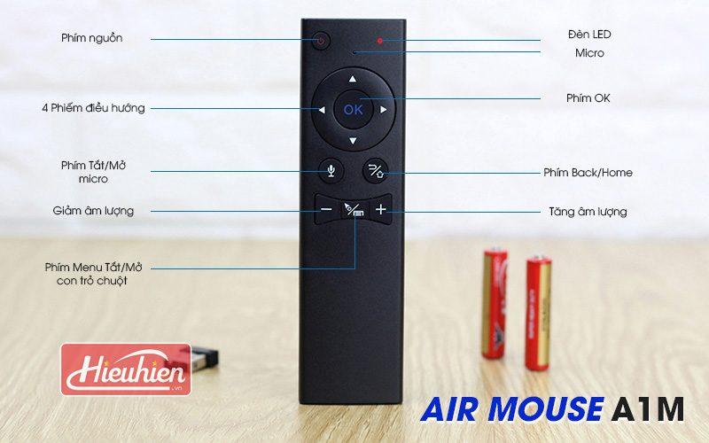 air mouse a1m - chuột bay tìm kiếm bằng giọng nói cho android tv box - mặt trước