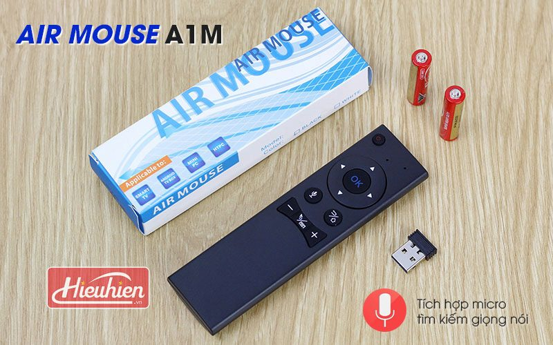 air mouse a1m - chuột bay tìm kiếm bằng giọng nói cho android tv box - mặt trên