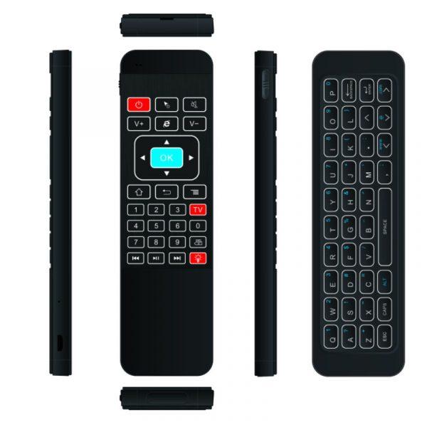 air mouse a5 pro - bàn phím chuột bay pin sạc cho android tv box - hình 02