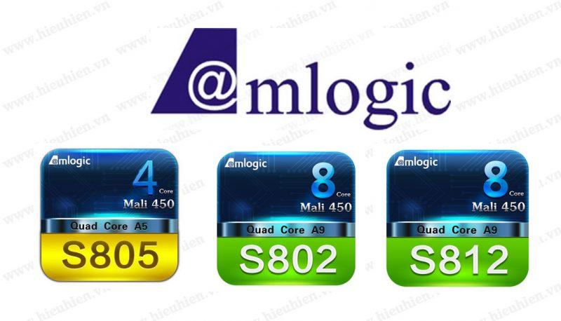 Sự khác nhau giữa chip AMLogic S802, S805 và S812 trên Android TV Box