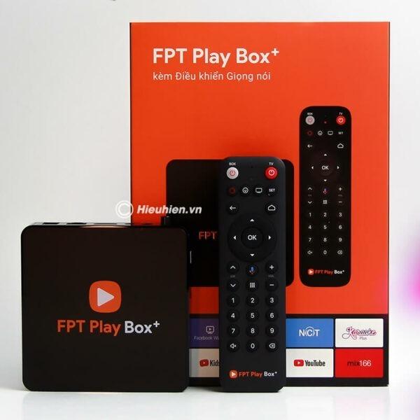 android tv box fpt play box + 2019 voice remote - hộp truyền hình thông minh điều khiển bằng giọng nói 0