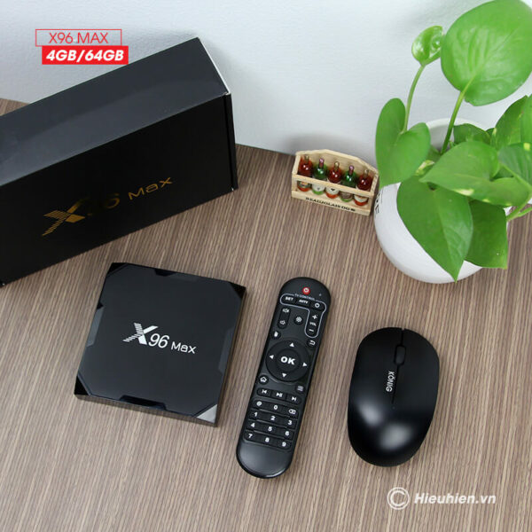 android tv box enybox x96 max 4gb/64gb android 8.1, chip amlogic s905x2 - hình 06