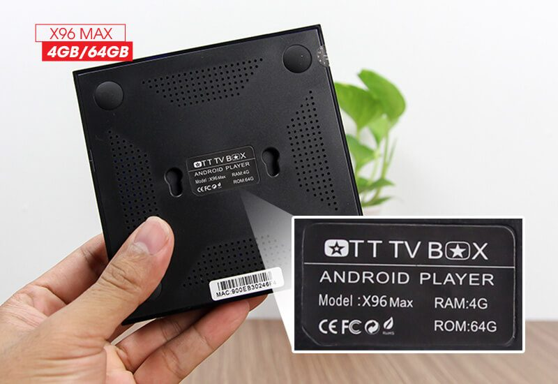 android tv box enybox x96 max 4gb/64gb android 8.1, chip amlogic s905x2 - hình 11