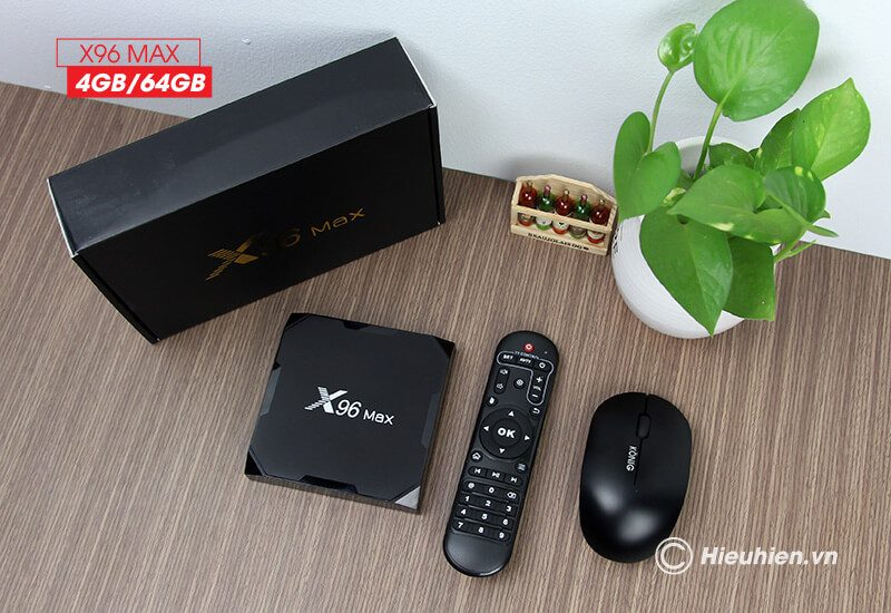 android tv box enybox x96 max 4gb/64gb android 8.1, chip amlogic s905x2 - hình 12