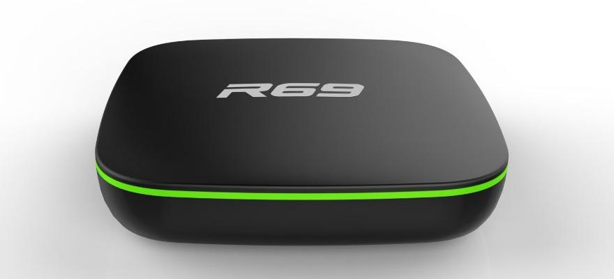android tv box r69 giá rẻ, chip lõi tứ allwinner h2 chính hãng