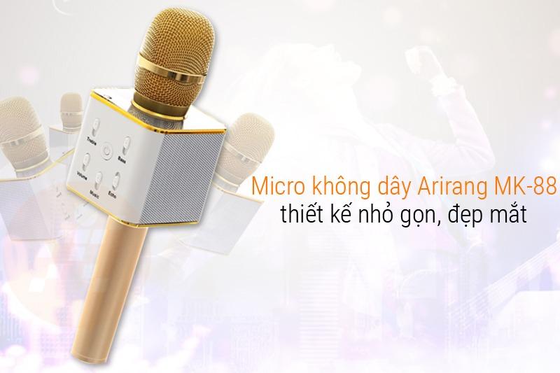micro karaoke bluetooth kem loa 3 trong arirang mk-88