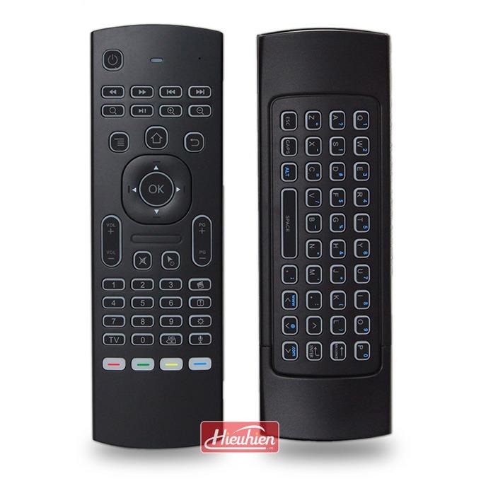bàn phím chuột bay km800 pro có mic voice search tìm kiếm bằng giọng nói cho android tv box
