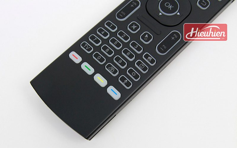 bàn phím chuột bay km800 pro có mic voice search tìm kiếm bằng giọng nói cho android tv box - phím số