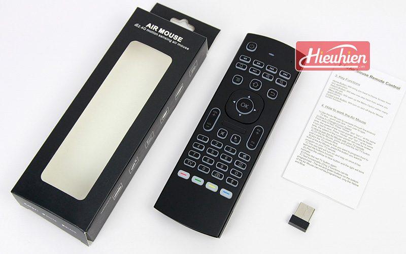 bàn phím chuột bay km800 pro có mic voice search tìm kiếm bằng giọng nói cho android tv box - full box