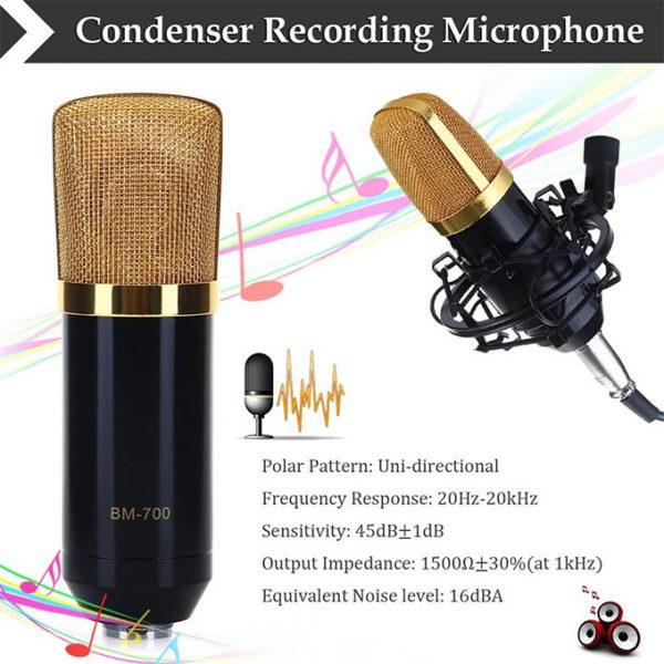 Micro Thu Âm BM-700 - Mic Hát Karaoke, Live Stream » Chính Hãng, Giá Rẻ 05