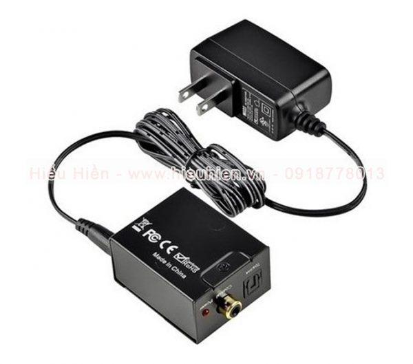 bộ chuyển đổi tín hiệu âm thanh tv optical ra av kết nối amply, loa - hình 02