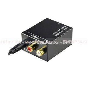 bộ chuyển đổi tín hiệu âm thanh tv optical ra av kết nối amply, loa - hình 03