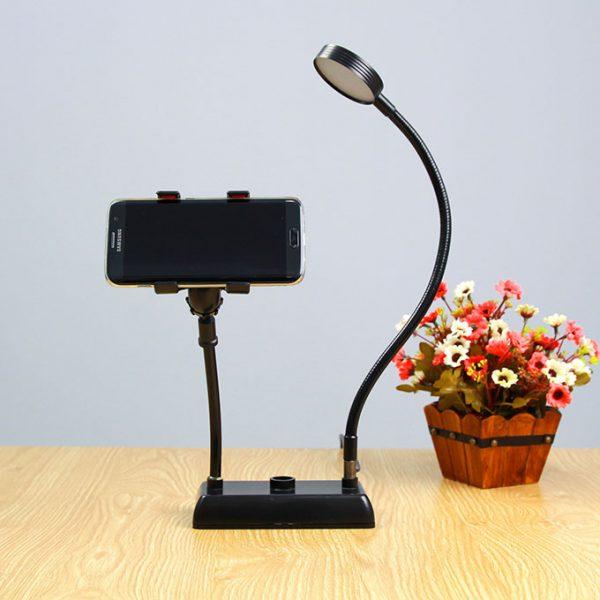 Bộ giá đỡ điện thoại Livestream có đèn LED LB-01 0