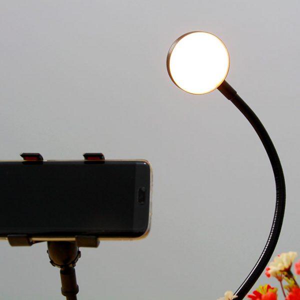 Bộ giá đỡ điện thoại Livestream có đèn LED LB-01 04