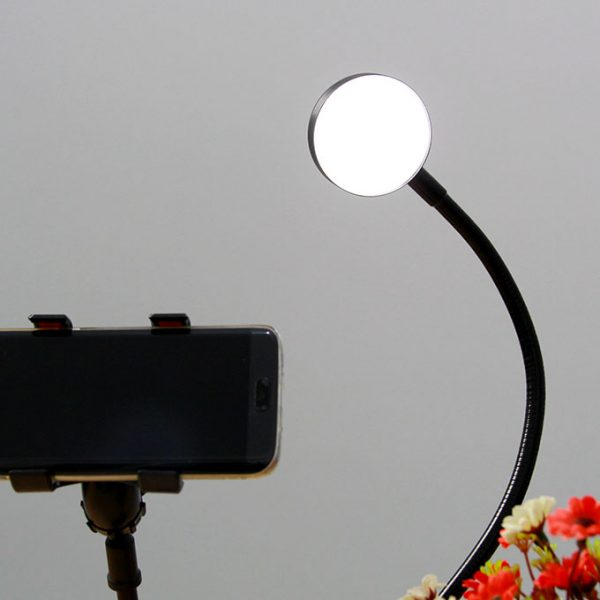 Bộ giá đỡ điện thoại Livestream có đèn LED LB-01 05