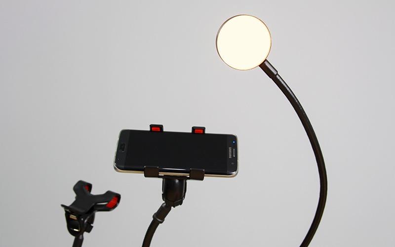 bo gia do dien thoai livestream co den led lb-02 09