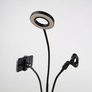Bộ giá đỡ điện thoại, Micro thu âm Livestream có đèn LED LB-03 01