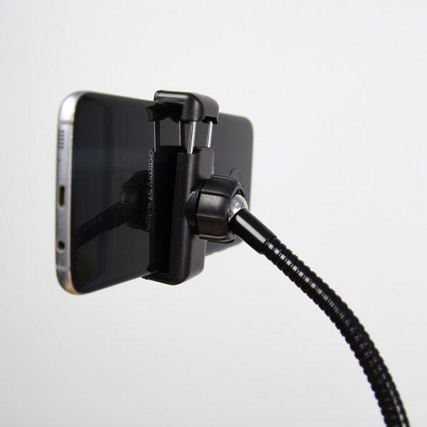 Bộ giá đỡ điện thoại, Micro thu âm Livestream có đèn LED LB-03 05