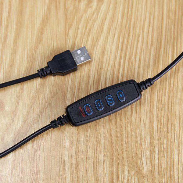Bộ giá đỡ điện thoại, Micro thu âm Livestream có đèn LED LB-03 06