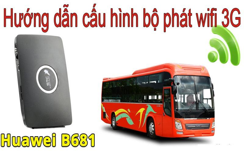 Hướng dẫn đổi mật khẩu và tên mạng wifi 3G di động Huawei B681