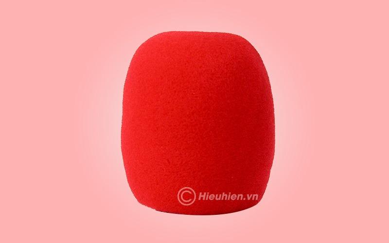 Bông mút bọc đầu Micro - màu đỏ
