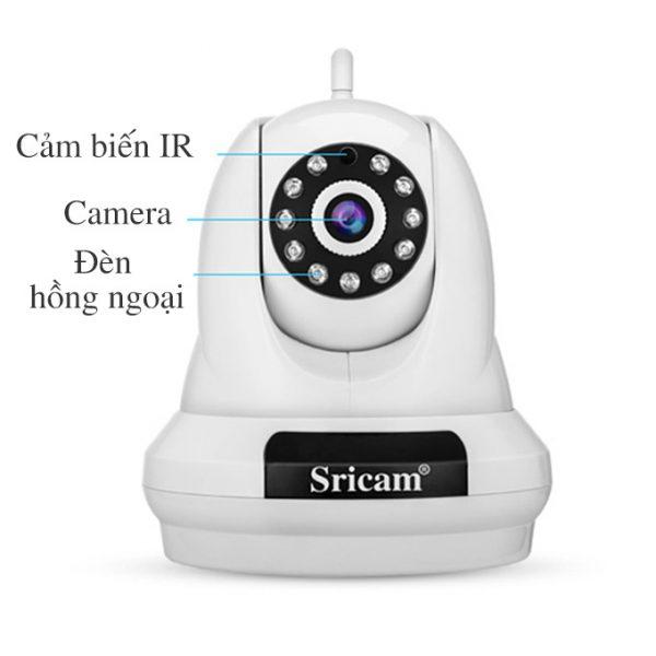 camera ip sricam sp018 full hd 1080p chính hãng, giá tốt - hình 02