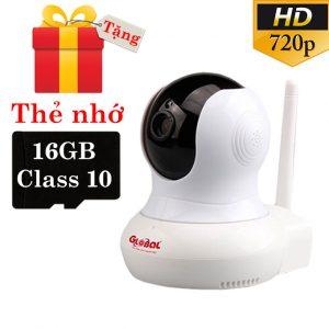 camera ip wifi global w1 720p hd - giám sát, quan sát không dây - tặng kèm thẻ nhớ