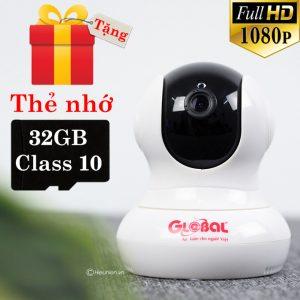 camera ip wifi global w3 2.0mp 1080p - giám sát, quan sát không dây - tặng thẻ nhớ