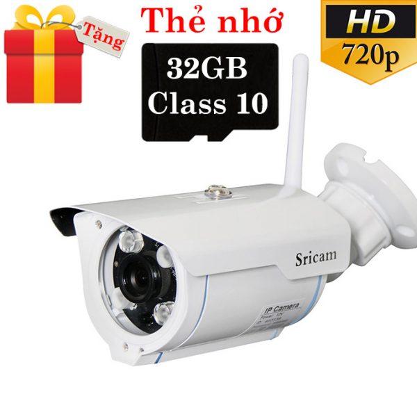 sricam sp007 - camera ip wifi ngoài trời, hỗ trợ thẻ nhớ 128gb - tặng thẻ nhớ