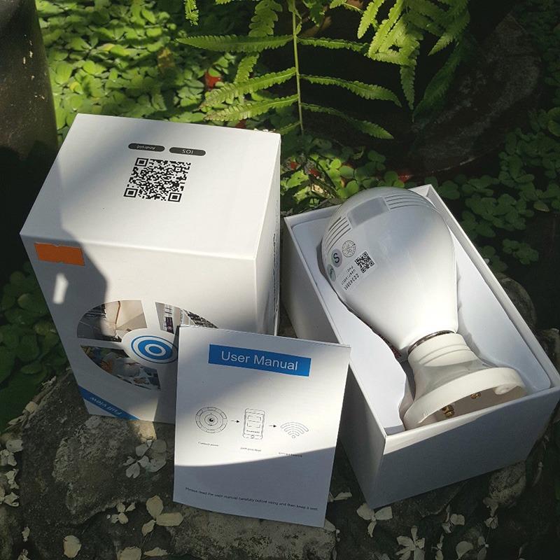 camera ip wifi ngụy trang bóng đèn, góc siêu rộng 1.3mpx - hd 960p - hình 02