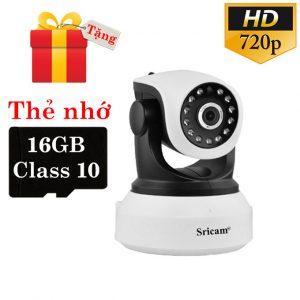 sricam sp017 - camera ip wifi thông minh, hỗ trợ thẻ nhớ 128gb