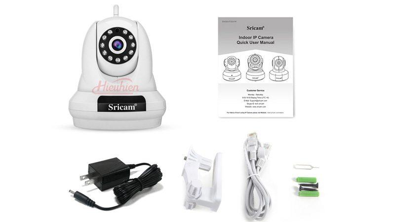 camera ip sricam sp018 full hd 1080p tặng thẻ nhớ - phụ kiện
