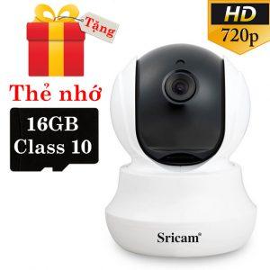 sricam sp020 - camera ip wifi thông minh, hỗ trợ thẻ nhớ 128gb - tặng thẻ nhớ