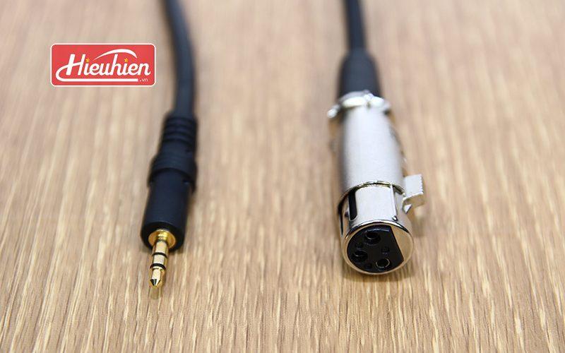 Cáp 3.5mm Jack Plug to XLR Female - Cáp kết Nối Micro Thu Âm - xlr ra 3.5