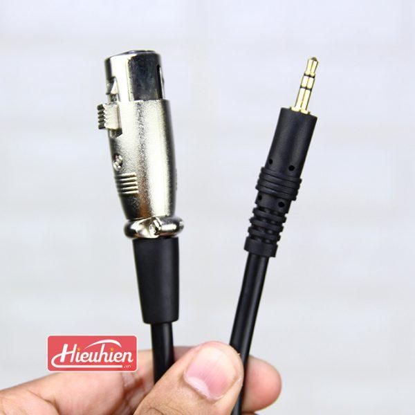 Cáp 3.5mm Jack Plug to XLR Female - Cáp kết Nối Micro Thu Âm 01