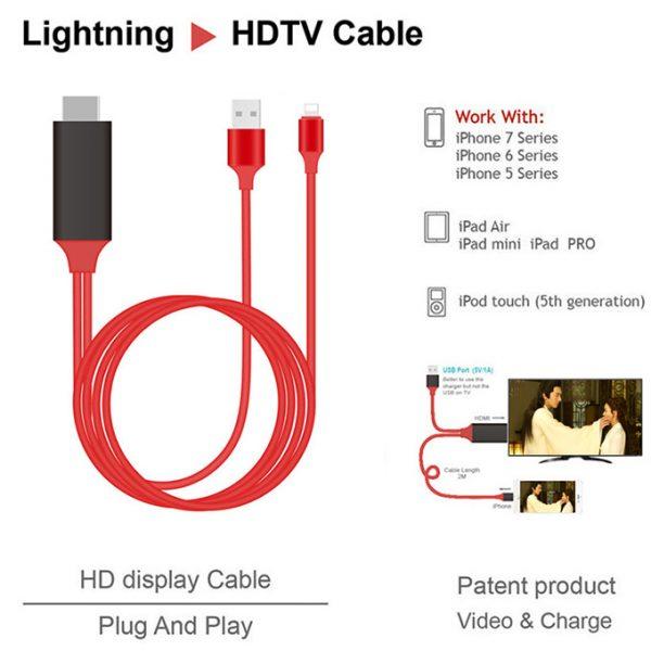 cáp lightning ddo loại tốt - kết nối iphone, ipad với tivi, máy chiếu - hình 05