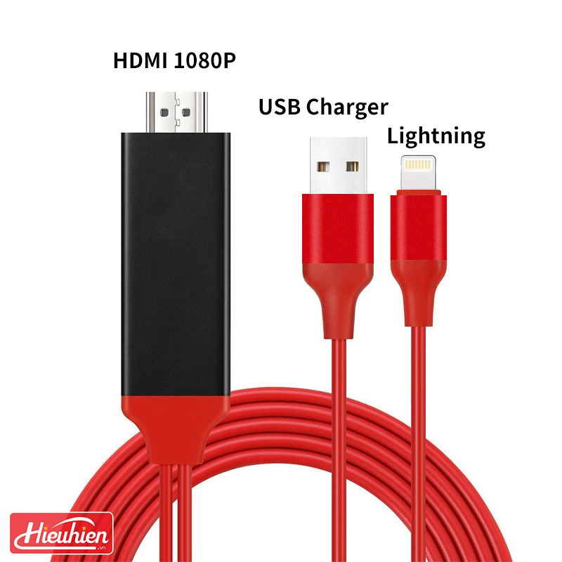 cap hdmi cho iphone, ipad ket noi voi tivi, may chieu - lightning to hdtv cable 07