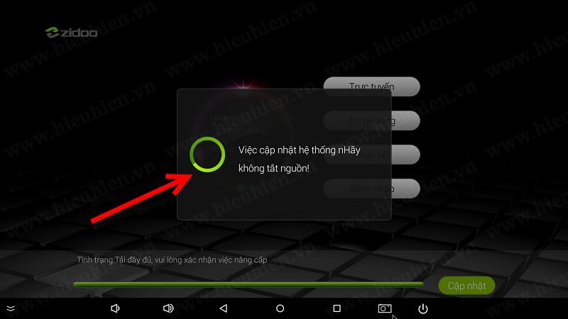 android tv box khoi dong lai va cai dat firmware