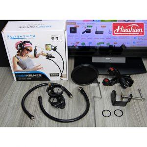 Chân đế micro kẹp bàn iKAKU, Giá đỡ micro thu âm và điện thoại 0