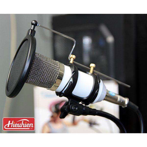 Chân đế micro kẹp bàn iKAKU, Giá đỡ micro thu âm và điện thoại 02