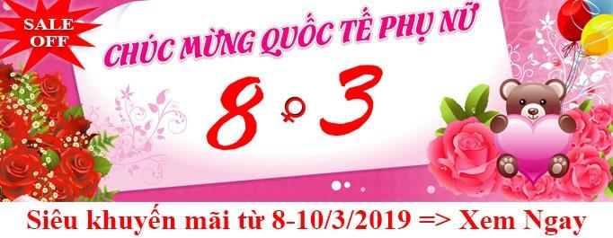 chương trình siêu khuyến mãi mừng ngày quốc tế phụ nữ 8/3/2019