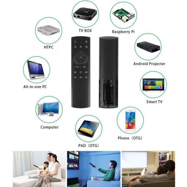 chuột bay tìm kiếm bằng giọng nói cho android tv box air mouse a5f - hỗ trợ đa nền tảng