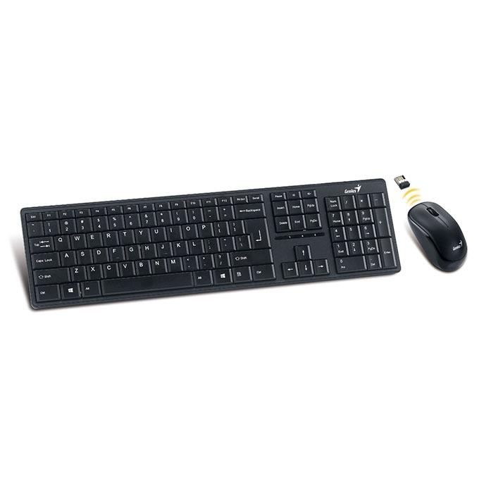 genius slimstar 8000me combo chuột và bàn phím cho android tv box, máy tính, laptop