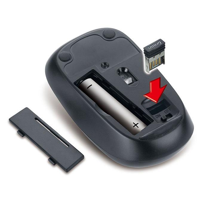 genius slimstar 8000me combo chuột và bàn phím cho android tv box, máy tính, laptop - hình 03