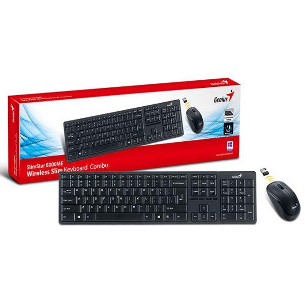 genius slimstar 8000me combo chuột và bàn phím cho android tv box, máy tính, laptop - hình 05
