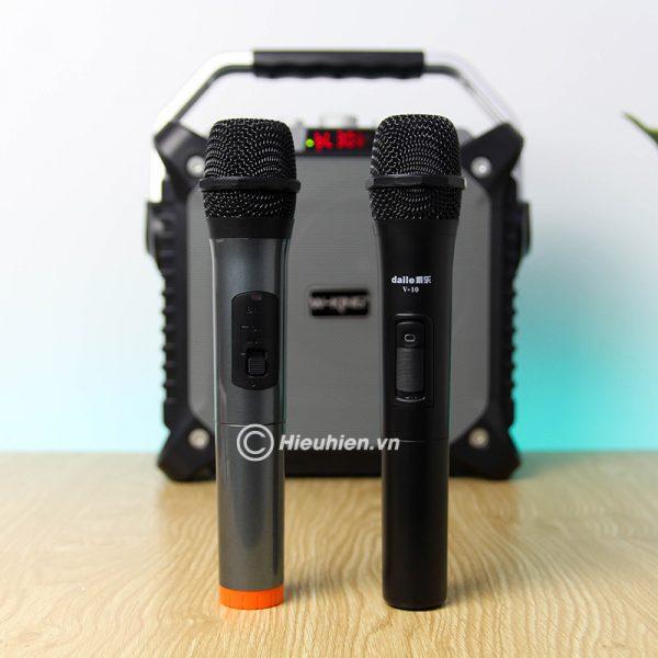 Combo Loa karaoke xách tay W-King K3 + Micro Daile V10 - Hát song ca cực hay 01