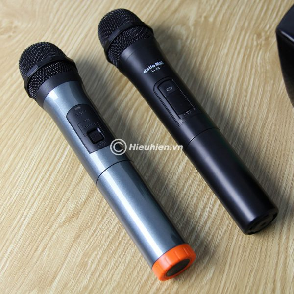 Combo Loa karaoke xách tay W-King K3 + Micro Daile V10 - Hát song ca cực hay 02