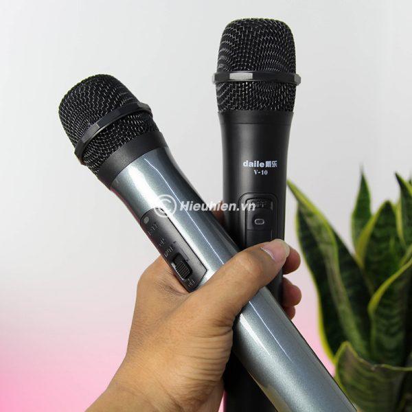 Combo Loa karaoke xách tay W-King K3 + Micro Daile V10 - Hát song ca cực hay 03