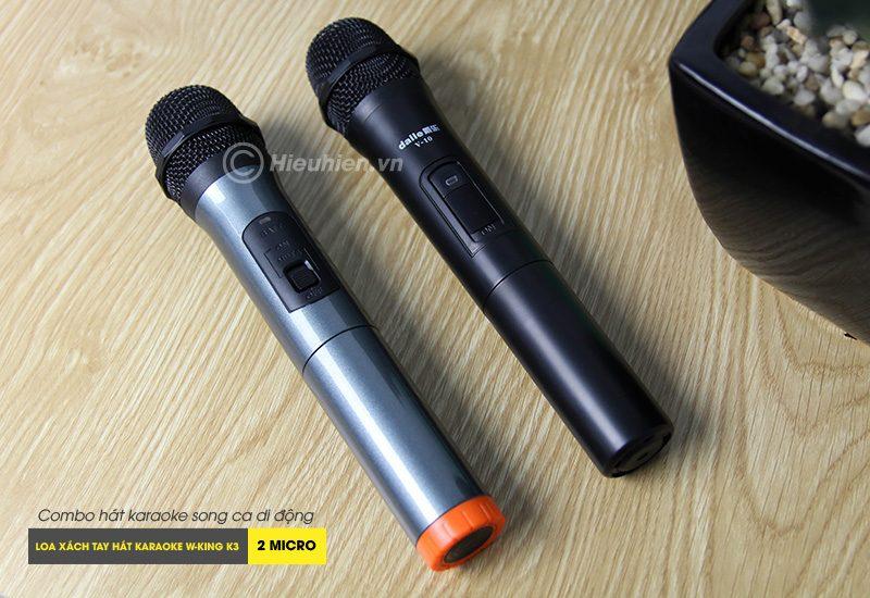 Combo Loa karaoke xách tay W-King K3 + Micro Daile V10 - Hát song ca cực hay 06