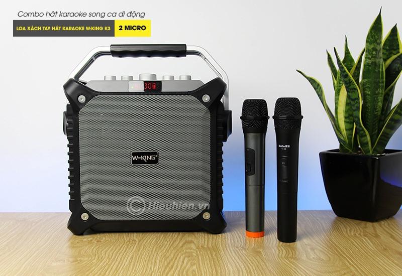Combo Loa karaoke xách tay W-King K3 + Micro Daile V10 - Hát song ca cực hay 04